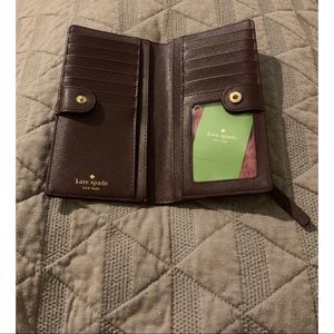 Kate spade plum colored wallet